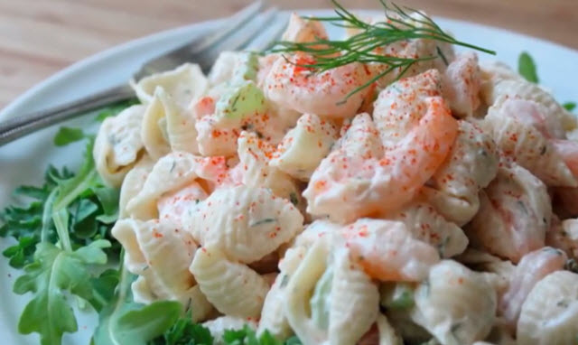 seashell crab salad